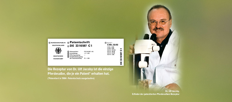 Dr. Ulf Jacoby - Erfinder der patentierten Pferdesalben Rezeptur